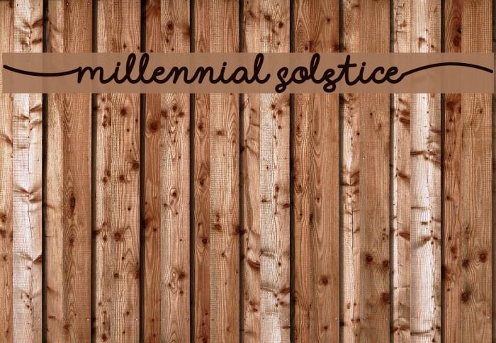 (Millennial Solstice) لخطوط تنزيل examples