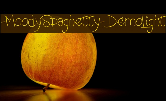 -MoodySpaghetty-DemoLight Font examples
