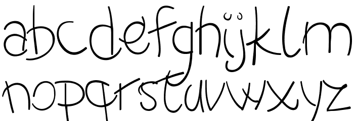 -MoodySpaghetty-DemoLight Font LOWERCASE