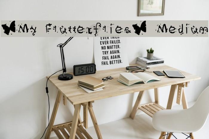 *My Flutterflies* Medium फ़ॉन्ट examples