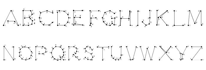 0Pointe-Fait Font UPPERCASE