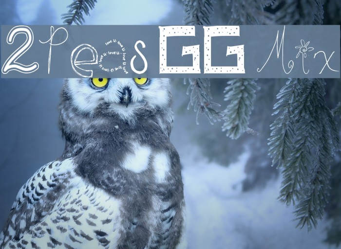 2Peas GG Mix Font examples