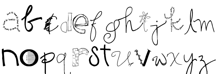 2Peas GG Mix Font LOWERCASE