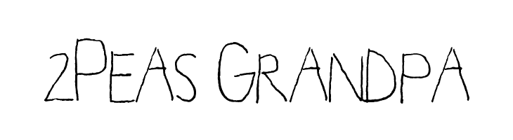 2Peas Grandpa  Free Fonts Download
