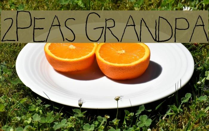 2Peas Grandpa फ़ॉन्ट examples