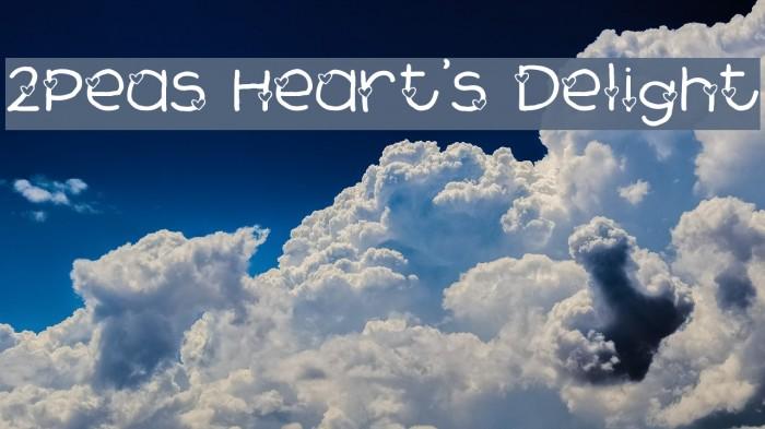 2Peas Heart's Delight फ़ॉन्ट examples