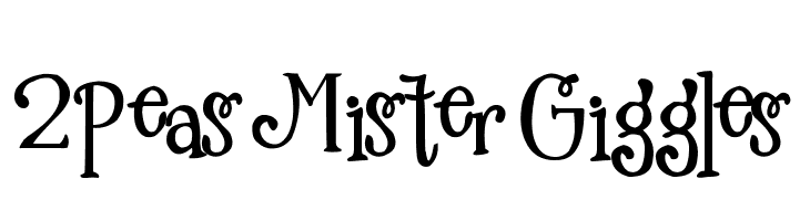 2Peas Mister Giggles  Free Fonts Download