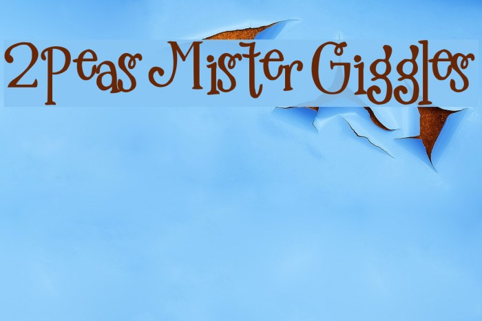 2Peas Mister Giggles Font examples
