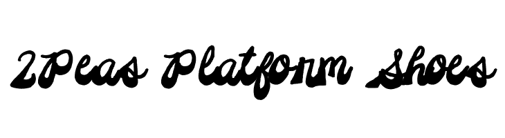 2Peas Platform Shoes  Free Fonts Download