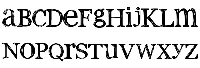 2Peas old type Font LOWERCASE