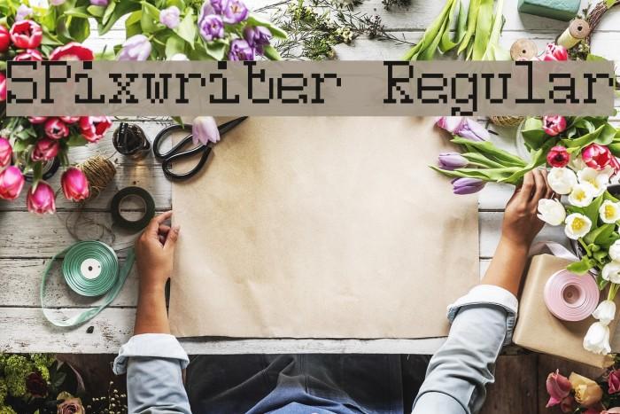 5Pixwriter Regular फ़ॉन्ट examples