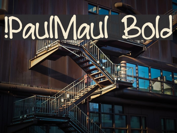 !PaulMaul Bold Шрифта examples