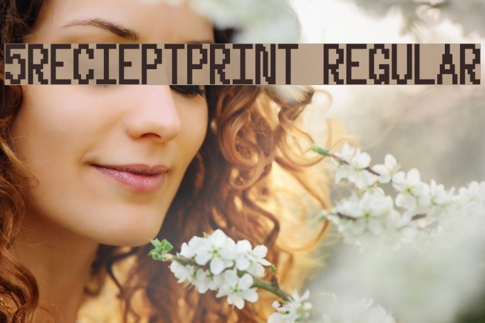 5Recieptprint Regular Font examples