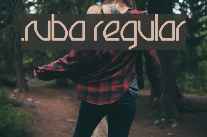.Ruba Regular Font examples