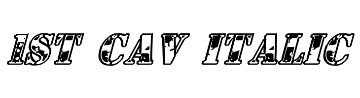 1st Cav Italic  Free Fonts Download