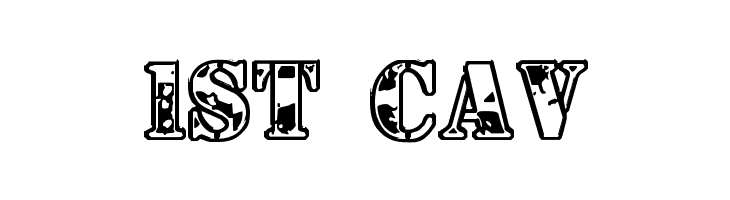 1st Cav  Free Fonts Download