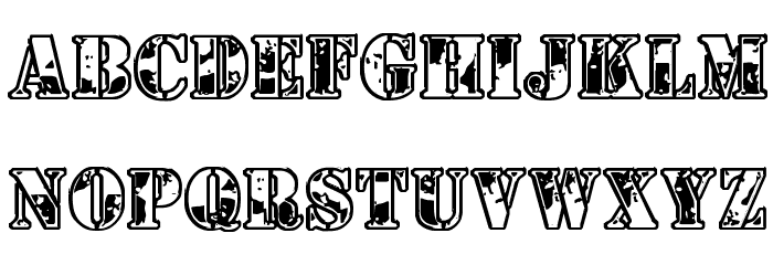 1st Cav Font UPPERCASE