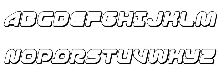 1st Enterprises 3D Italic फ़ॉन्ट अपरकेस