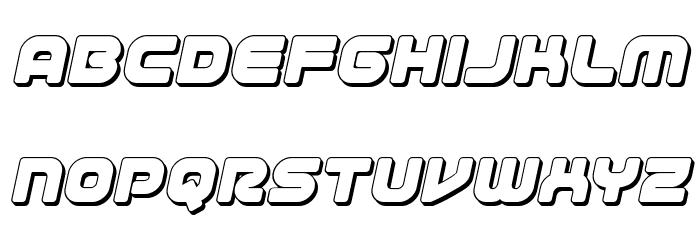 1st Enterprises 3D Italic फ़ॉन्ट लोअरकेस