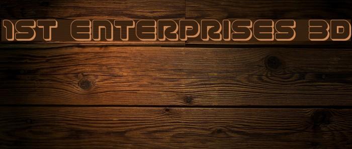 1st Enterprises 3D फ़ॉन्ट examples