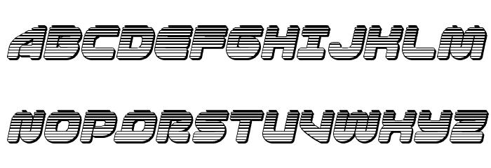 1st Enterprises Chrome Italic Fonte MAIÚSCULAS