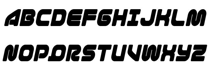1st Enterprises Condensed Italic Font UPPERCASE