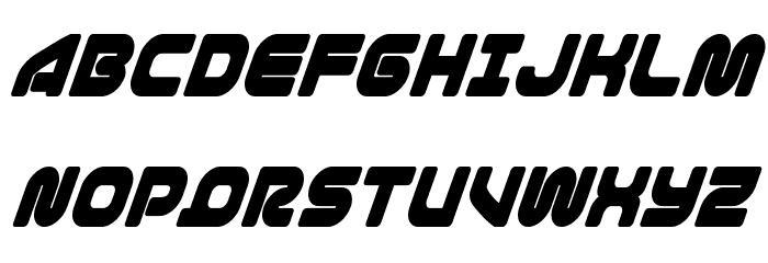 1st Enterprises Condensed Super-Italic फ़ॉन्ट अपरकेस