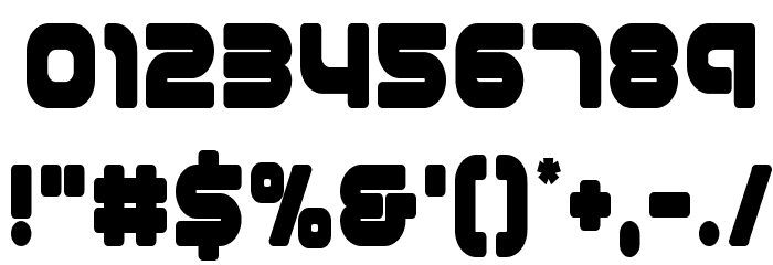 1st Enterprises Condensed Font OTHER CHARS