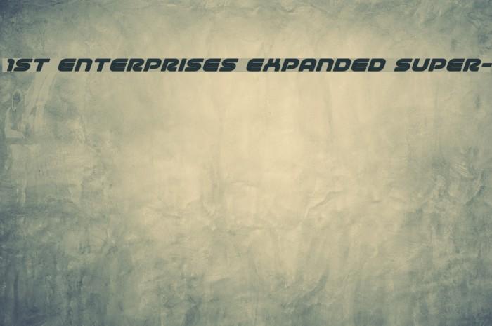 1st Enterprises Expanded Super- Fonte examples