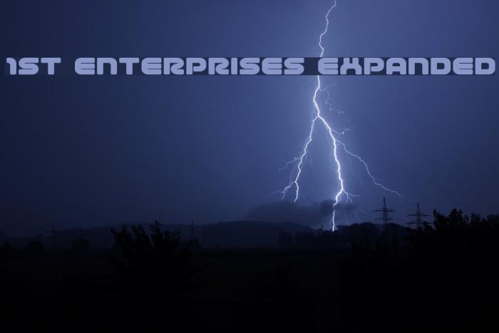 1st Enterprises Expanded Font examples