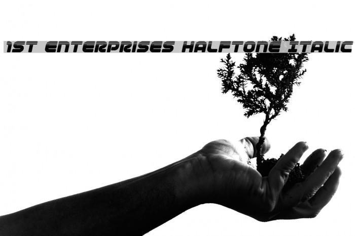 1st Enterprises Halftone Italic لخطوط تنزيل examples