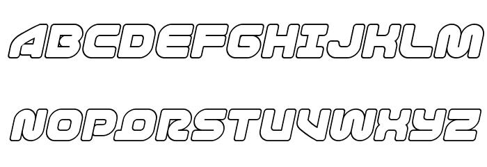 1st Enterprises Outline Italic फ़ॉन्ट अपरकेस