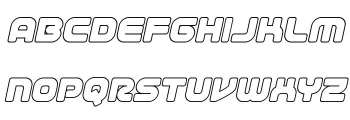 1st Enterprises Outline Italic फ़ॉन्ट लोअरकेस