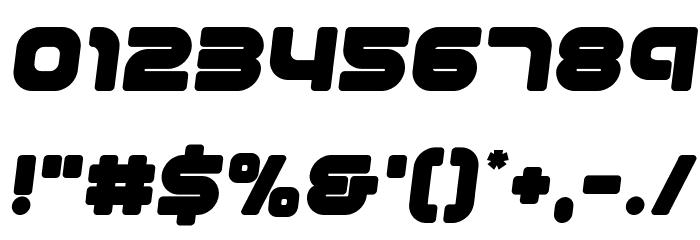 1st Enterprises Semi-Italic フォント その他の文字