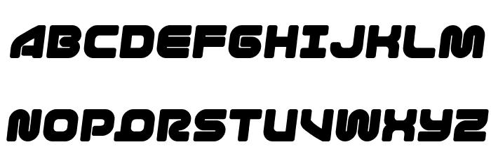 1st Enterprises Semi-Italic फ़ॉन्ट अपरकेस