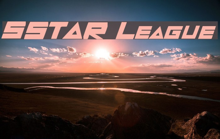 5STAR League Font examples
