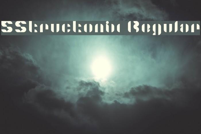 5Structonix Regular Font examples