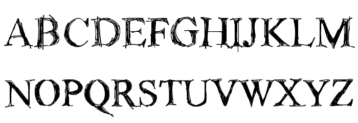 !Sketchy Times Bold Font UPPERCASE
