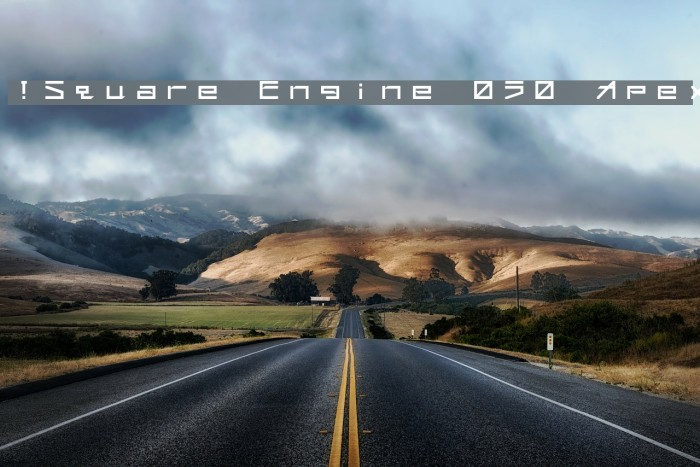 !Square Engine 050 Apex フォント examples