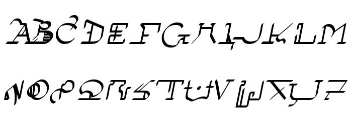 !Sutura Frontalis Bold Italic फ़ॉन्ट अपरकेस