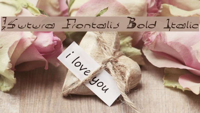 !Sutura Frontalis Bold Italic Caratteri examples