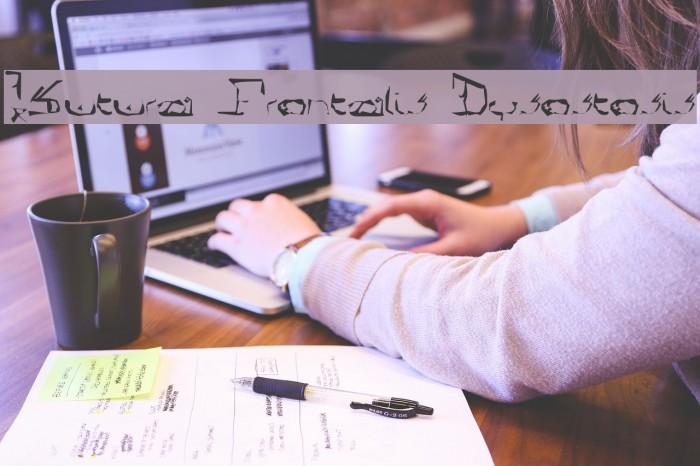 !Sutura Frontalis Dysostosis Font examples