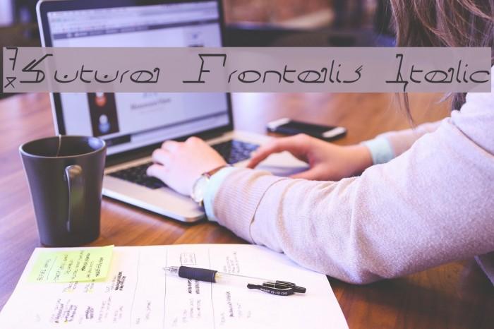 !Sutura Frontalis Italic Fonte examples