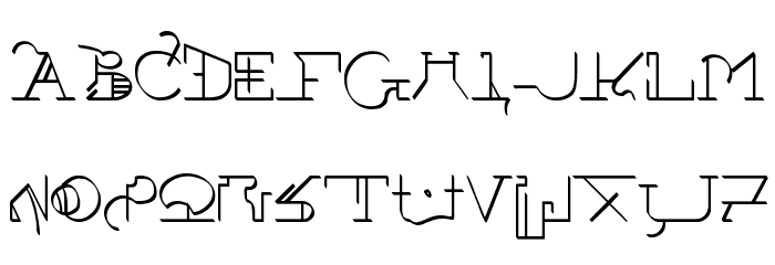 !Sutura Frontalis Font UPPERCASE
