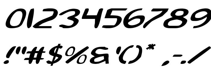 2Toon2 Expanded Italic Шрифта ДРУГИЕ символов