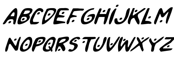 2Toon2 Italic फ़ॉन्ट लोअरकेस