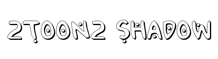 2Toon2 Shadow  Free Fonts Download