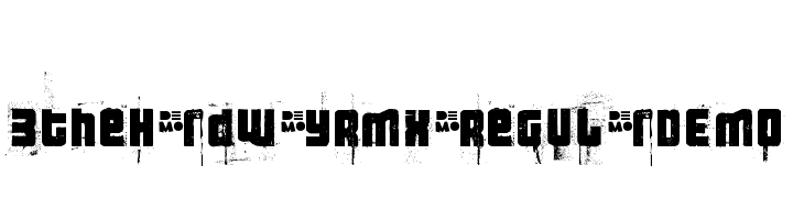 3theHardwayRMX-RegularDEMO  Free Fonts Download