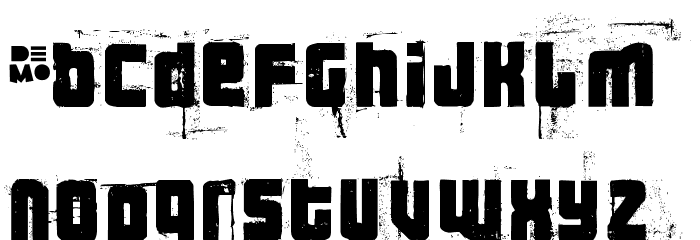 3theHardwayRMX-RegularDEMO Font LOWERCASE