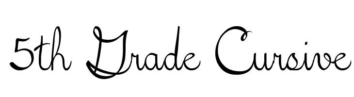 5th Grade Cursive  Free Fonts Download